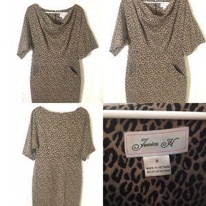 Jessica Howard Animal print 3/4 sleeve dress 8